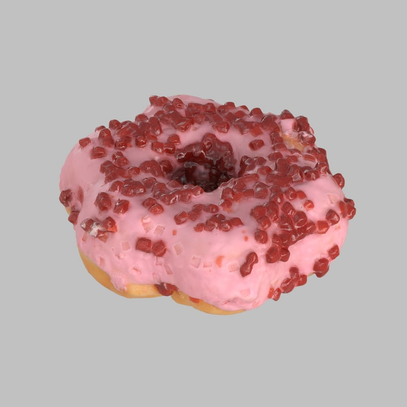 3d donut star strawberry