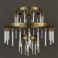 obj restoration axis three-tier chandelier