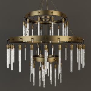 restoration axis three-tier chandelier max