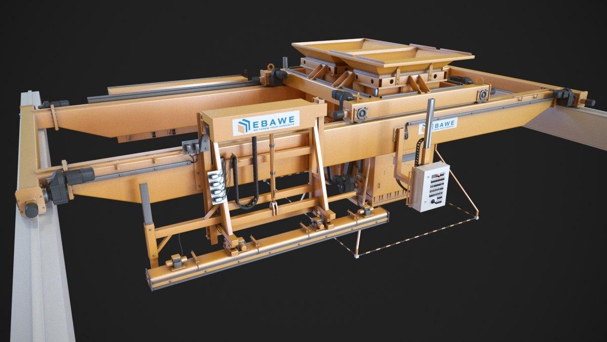 3d concrete plant machine model