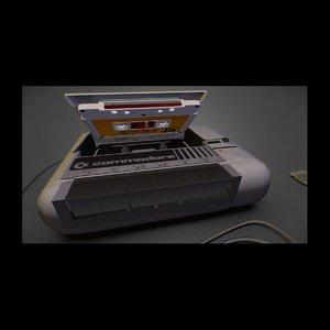 commodore datasette 3d model