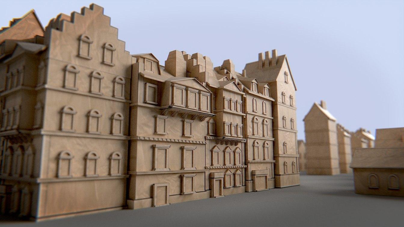 paper buildings kit cityscapes 3d obj