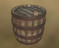 3d collision wood barrel