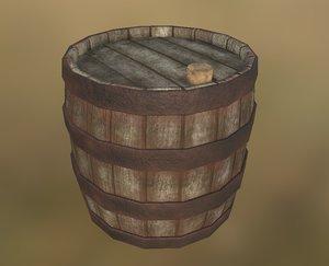 3d collision wood barrel