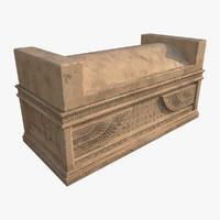 3d model egyptian sarcophagus - ready