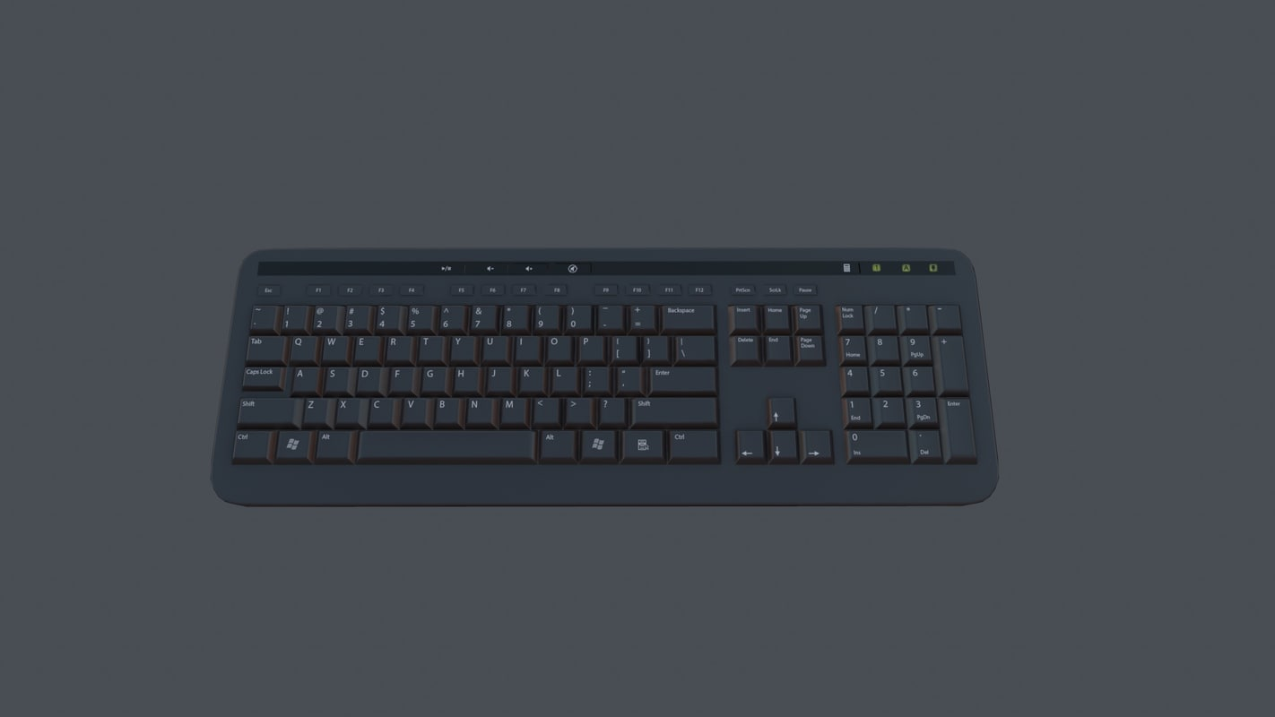 keyboard - pbr ready obj