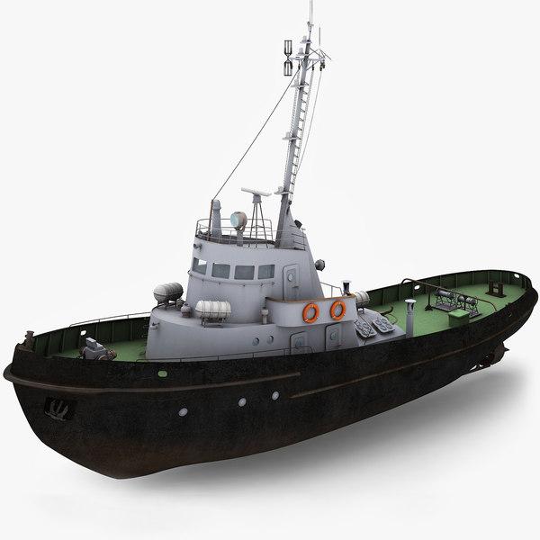 3d tug boat model