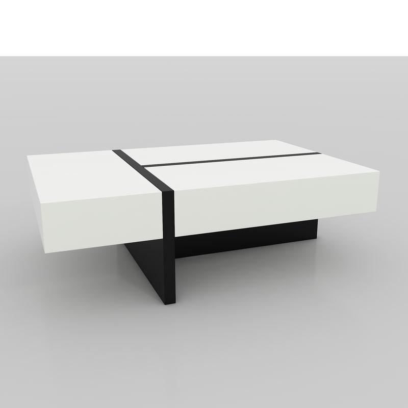 3d mcintosh gloss coffee table