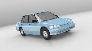 3d generic sedan