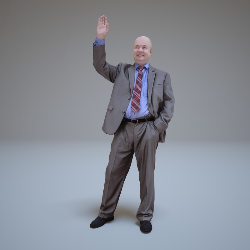 3d businessman hello people human