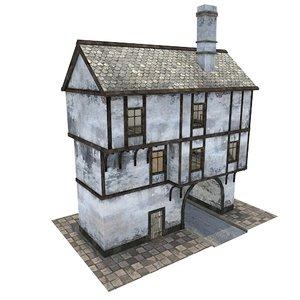 3d medieval gate house
