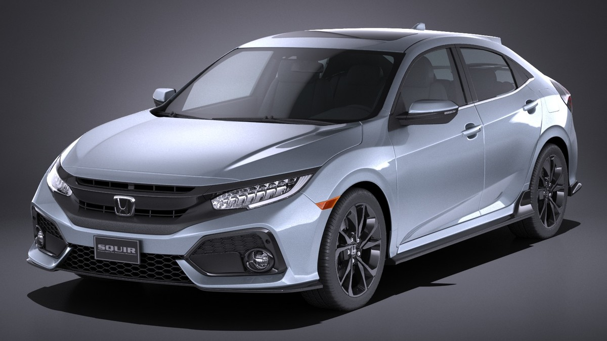 3d honda civic hatchback