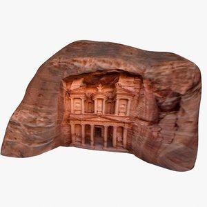 3d ancient ruins petra model