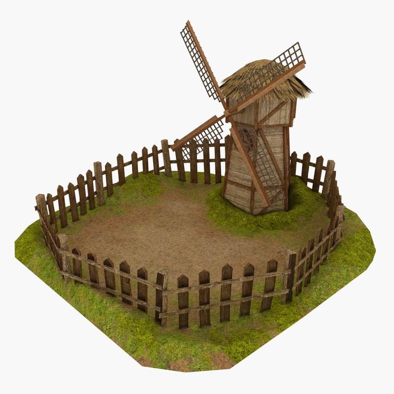 hobbit windmill glade 3d max