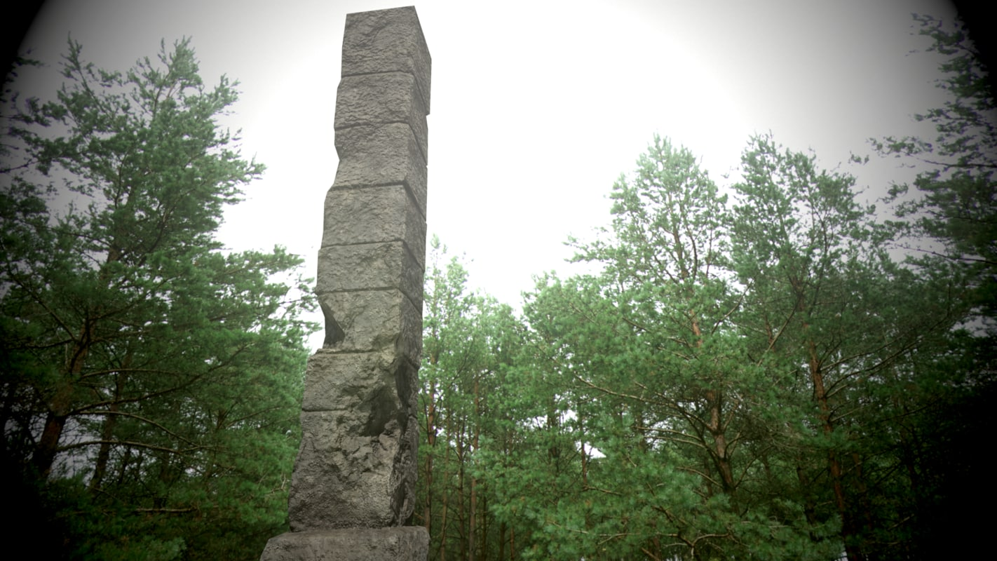 stone columm polys obj