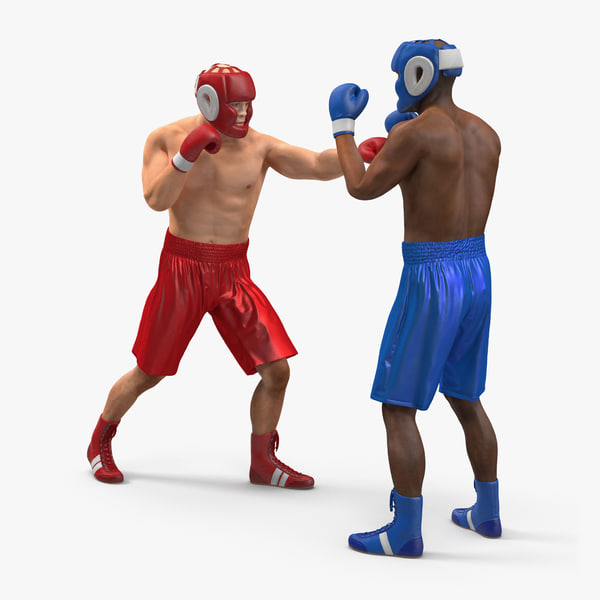 3d boxers fighting model