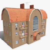 3d model photorealistic building apartment 1