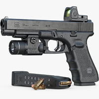 Gun Glock 34 Gen 4, Scope, Flashlight