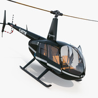 Light Helicopter Robinson R44 Raven II Rigged