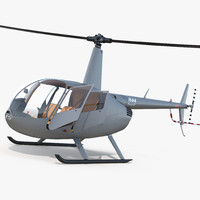 Light Utility Helicopter Robinson R44 Rigged