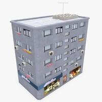 3d photorealistic building apartment 3 model