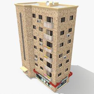 photorealistic building apartment 4 3d model