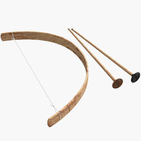 3d wood arrows model