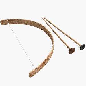 3d wood arrows model