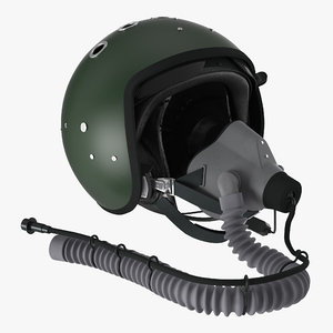 jet fighter pilot helmet 3d max