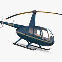 light helicopter robinson r44 3ds