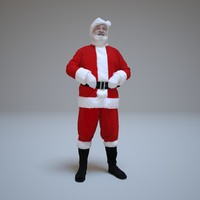 standing santa people human x