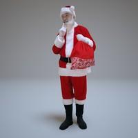 3d santa secret people human