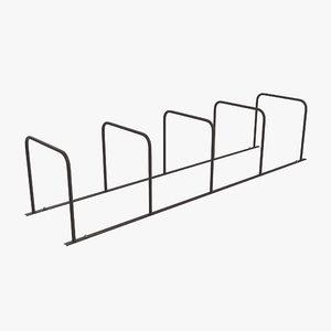 bike rack crates 3 3d obj