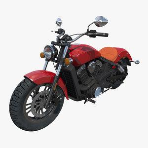 cruiser motorcycle generic c4d
