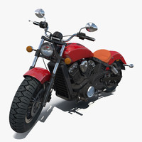 Cruiser Motorcycle Generic Rigged 3D Model