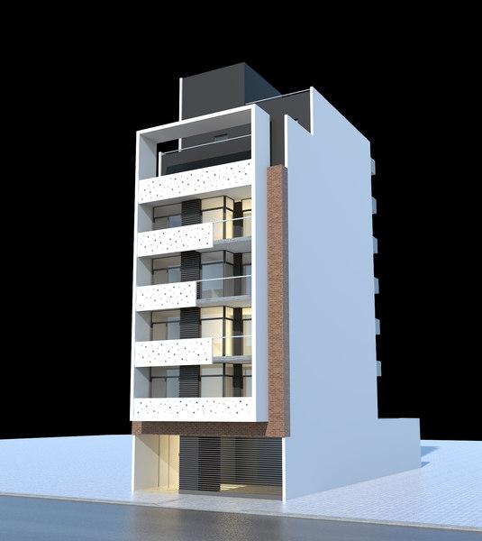3d lwo modern building