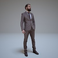 businessman beards people human 3d max