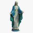 virgin mary statue 3D models