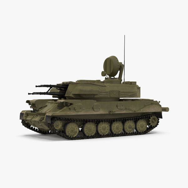 anti aircraft tank zsu 3d max