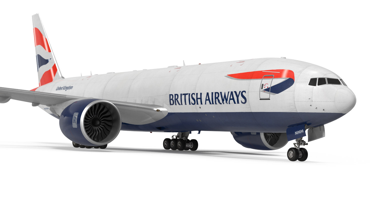 3d model boeing 777 freighter british airways