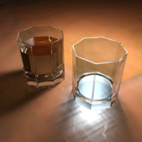 Faceted Glass High Poly