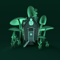 scenery infected house 3d model