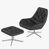 armchair ds 144 sede 3d model