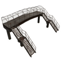 3d obj pedestrian bridge