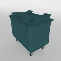 3d wheelie bin model