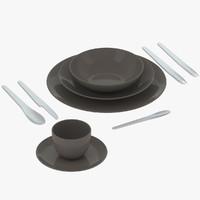 3d tableware 02 model