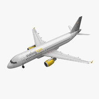 3d model of airbus a320 vueling animation