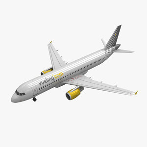 airbus a320 vueling 3d obj
