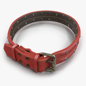 max animal collar red
