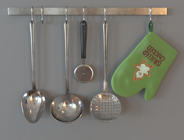 ladles hanging obj